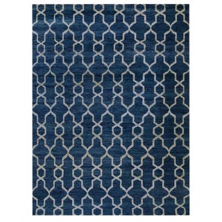 Blue Moroccan Design Rug - 9′9″ × 12′10″