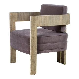 Customizable Paul Marra Curved Arm Chair