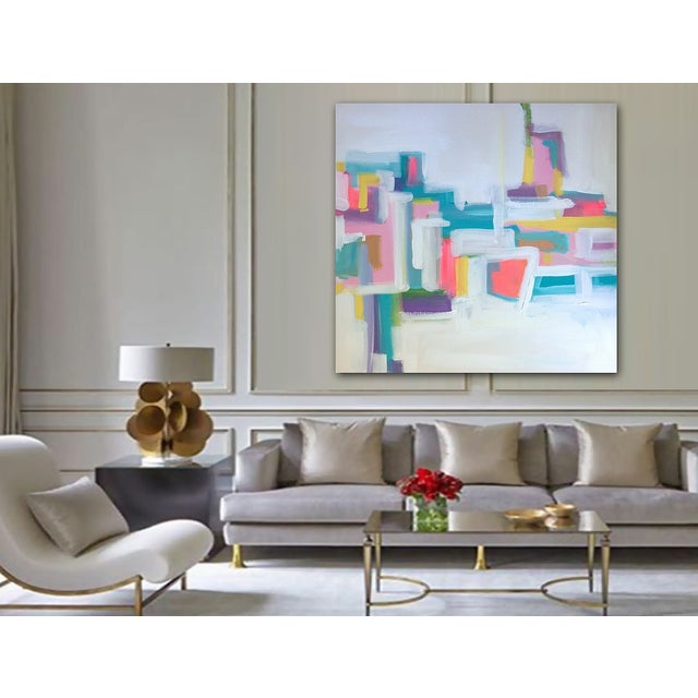Image of 'Pow Wow' Original Abstract Painting
