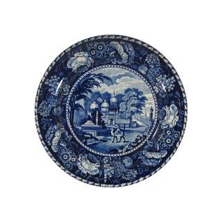 19th Century Dark Blue Staffordshire Plate