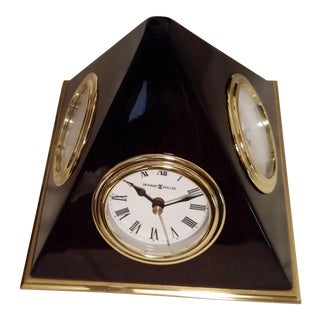 2005 Harold Miller Pyramid Desk Clock