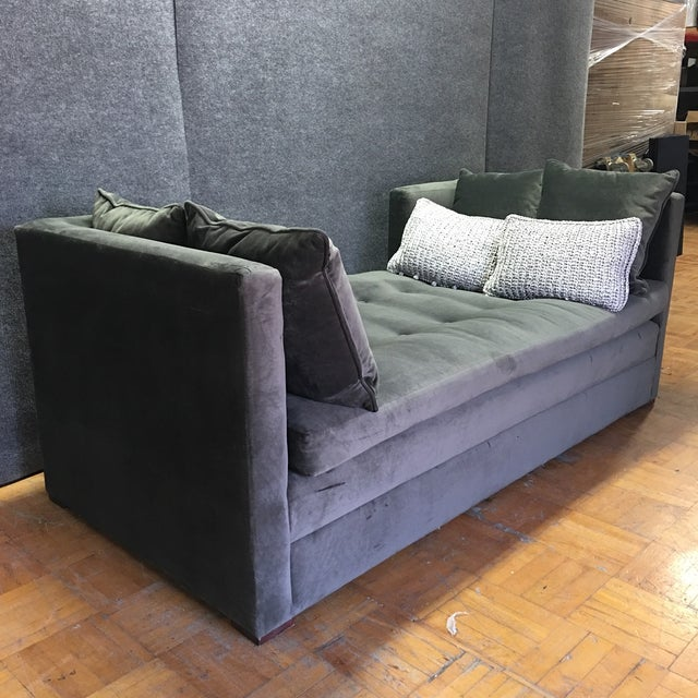 Modern Grey Daybed & Pillows - Image 7 of 8
