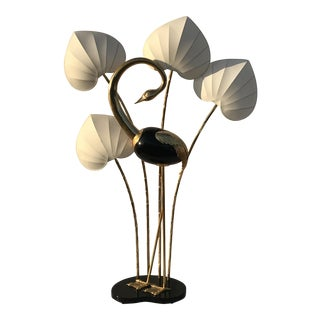 Brass Flamingo Floor Lamp by Antonio Pavia