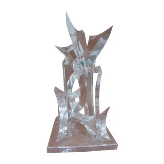 Abstract Lucite Sculpture by Van Tial
