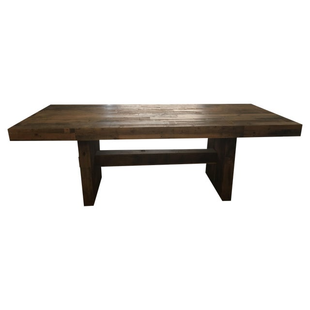 west elm emmerson reclaimed wood dining table chairish. Black Bedroom Furniture Sets. Home Design Ideas