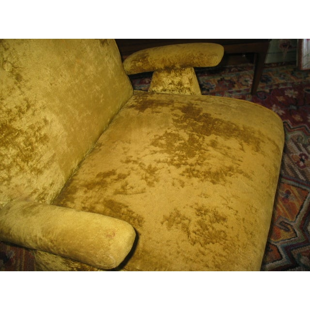 MCM 60s Chartruese Velour Chair - Image 7 of 8