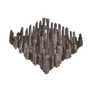 Italian Silver Gilt Hanging Castle Wall Sculpture