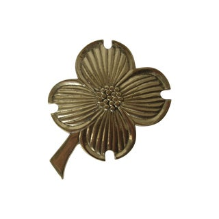 Brass Four Leaf Clover Trivet