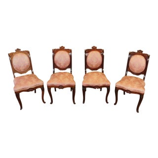 Antique Empire Style Rosewood Side Chairs - Set of 4