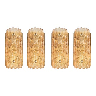 Mid-Century Modern Set of 4 Sconces by Carl Fagerlund for Orrefors