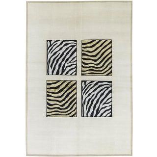"Contemporary Modern Hand Woven Zebra Rug - 5'6"" X 7'10"""