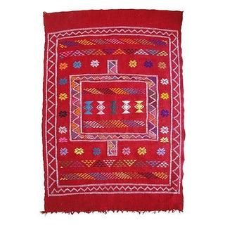 Moroccan Berber Wool Rug- 4'10'' x 3'3''
