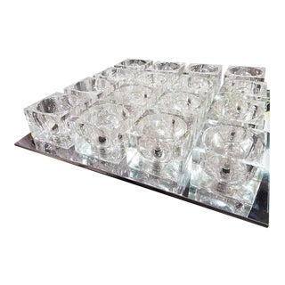 "Gaetano Sciolari ""Ice Cube"" Lighting Fixture"