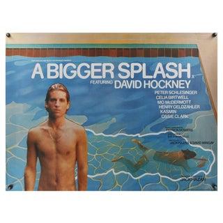 """""""A Bigger Splash"""" 1974 David Hockney Film Poster"""