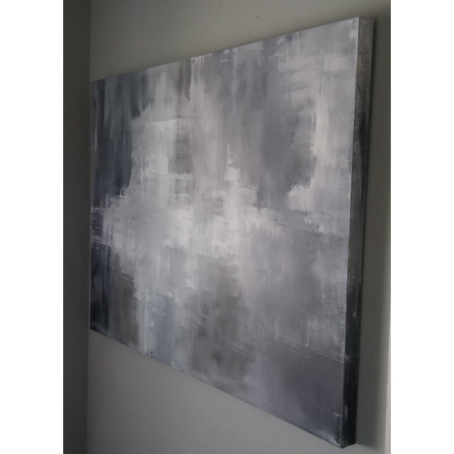 """""""Greys"""" Original Abstract Art by Kris Gould - Image 5 of 5"""