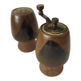 David Cressey Pottery Salt Shaker & Pepper Grinder