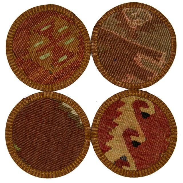 Image of Turkish Kilim Coasters, Antalya - Set of Four