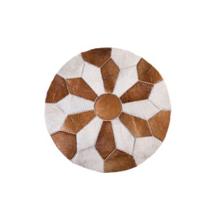"Cowhide Patchwork Area Rug - 5'9"" x 5'9"""