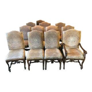 Custom Made Mediterranean Dining Chairs - Set of 12