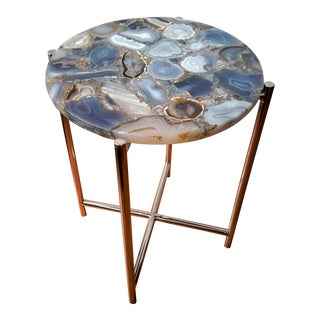 Agate & Chrome Side Table