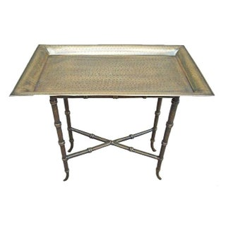 Removable Brass Metal Tray Table