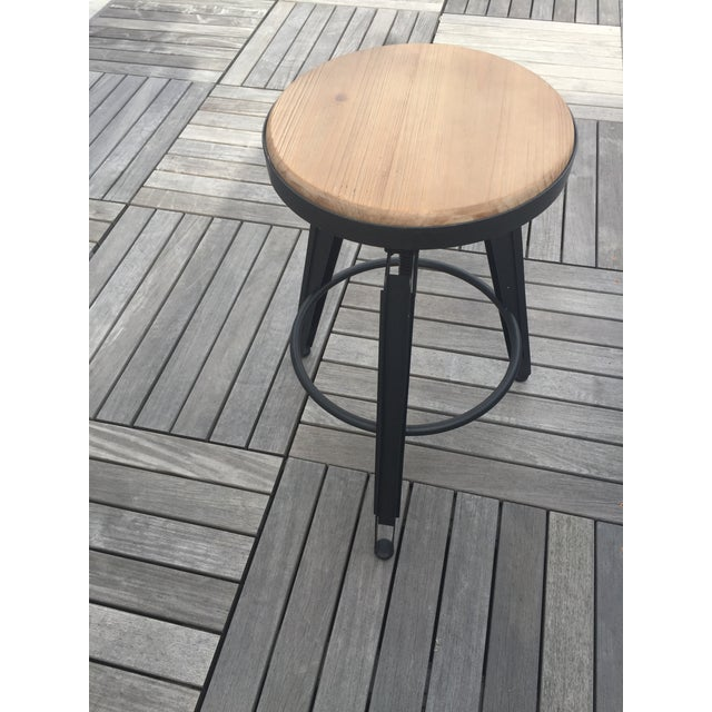 Industrial Adjustable Vintage Stool - Image 5 of 11