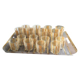 Coro Barware Set Bamboo Tiki Motif - 17 Piece