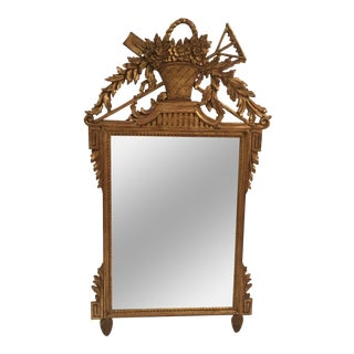 Neoclassical Gold Leaf Mirror