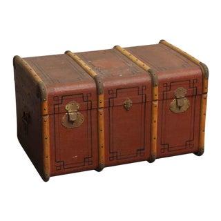 Antique Art Deco Travel Trunk