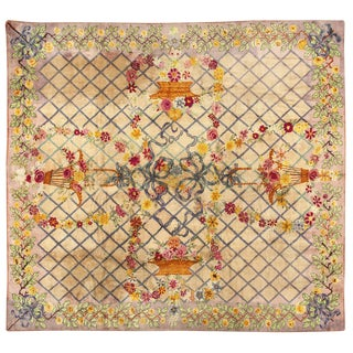 """Traditional American Hooked Carpet - 11'3"""" x 12'3"""""""