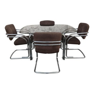 Milo Baughman Chrome Dining Set