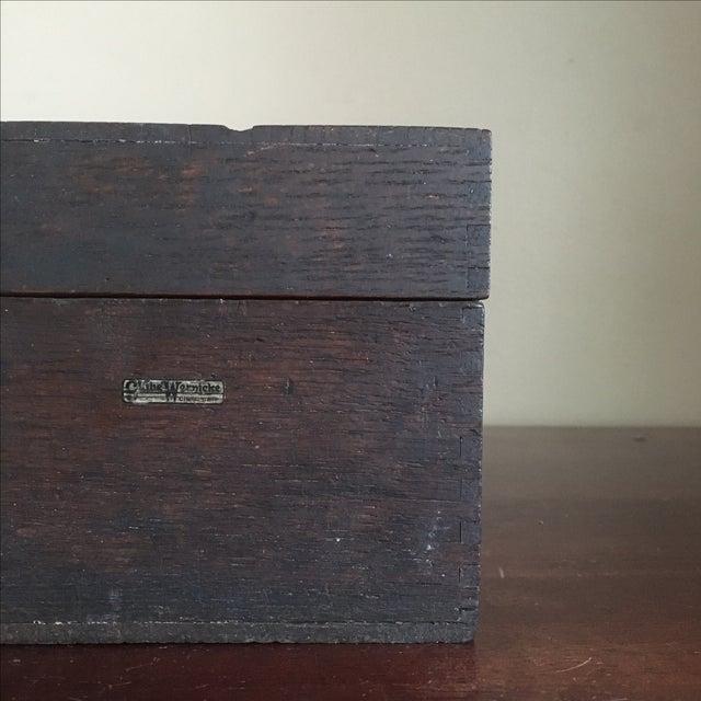 Vintage Globe Wernicke Wooden Index Card File Box - Image 3 of 11