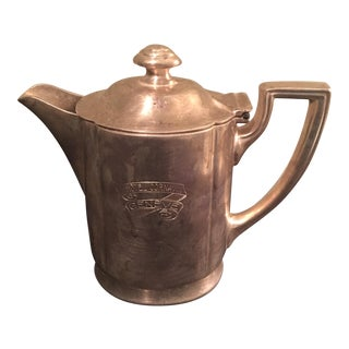 Rare Hotel Cornavin 1900s Swiss Teapot