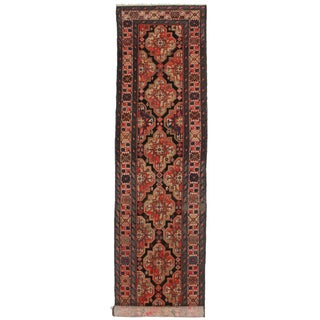 Vintage Persian Malayer Runner - 3′5″ × 16′6″