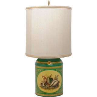 Sea Shell Tole Canister Lamp #2