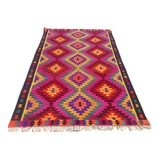 Vintage Turkish Kilim Rug - 6′2″ × 10′4″