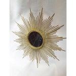 Image of Art Deco Style Gold Starburst Mirror