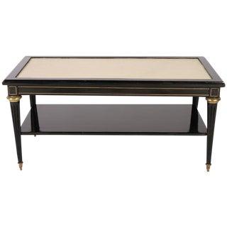 Directoire Style Ebonized Coffee Table