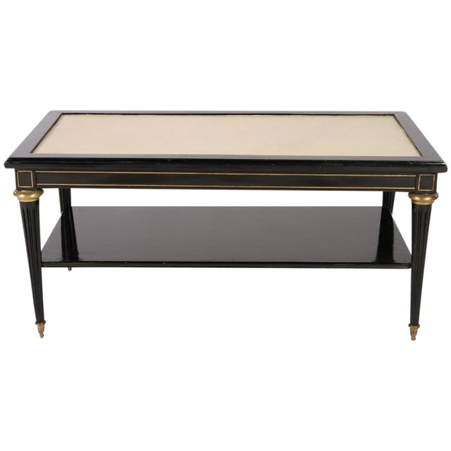 Image of Directoire Style Ebonized Coffee Table