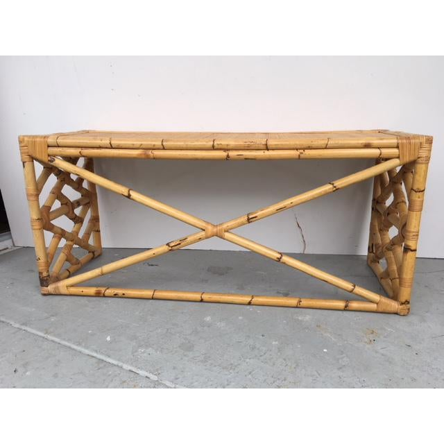 Tropical Chic Bamboo & Rattan Console - Image 7 of 8