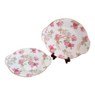 English Aynsley Elizabeth Rose Cake/ Sandwich Platters - A Pair