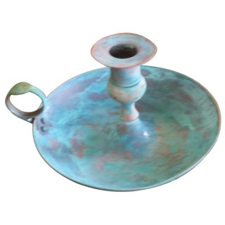 Vintage Bronze Candle Holder I