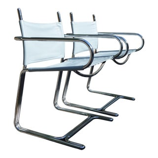 Reverse Cantilever Chairs - A Pair
