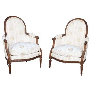Rare Pair of 18th Century. Child's Bergères Stamped Nadal-Laine