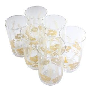 Floral Print Glassware - Set of 6