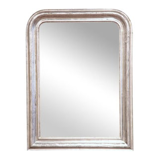 19th Century French Louis Philippe Silver Leaf Mirror