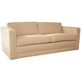 Mid-Century Knoll Sofa in Custom Linen