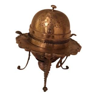 2-Piece Solid Brass Turkish Islamic Mansion Brazier