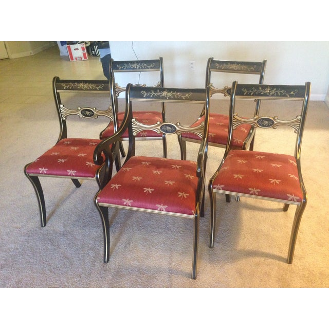 Hand-Painted Chairs - Set of 5 - Image 2 of 7