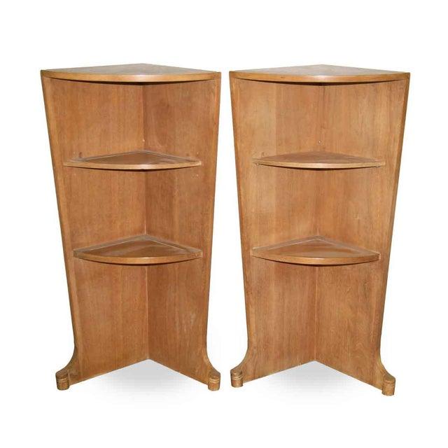 Mid-Century Corner Shelves - A Pair - Image 3 of 10